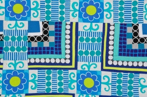 Here are several close up shots of Deep Blue Sea. About mid-way through making these nine color gird quilts, I decided to start using prints again. I am so glad I did.
