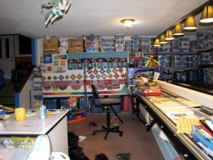 So this is what the my studio looked like during the construction process. Out of chaos comes order, right?