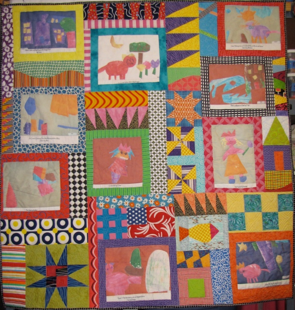 This is the quilt finished with all the