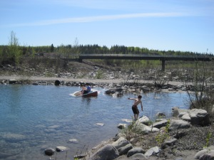 The swimming hole, McCarthy, Alaska