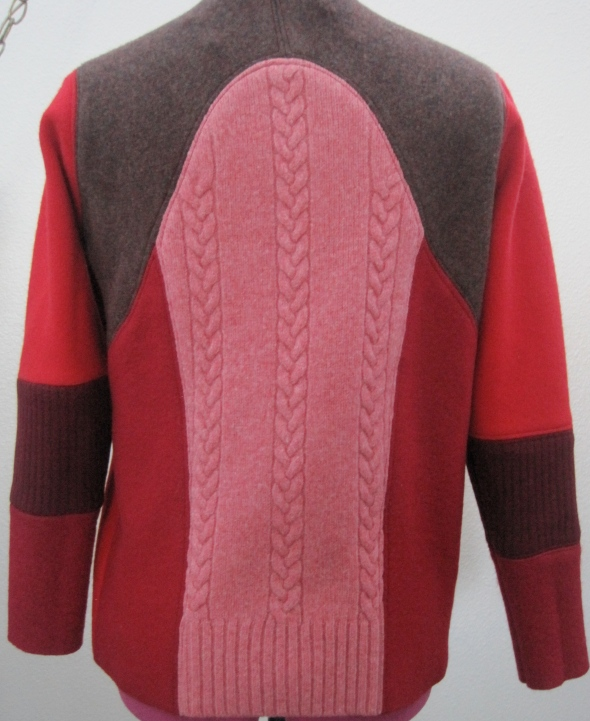 While the fronts of the mod sweater are all the same, the backs are all different. If you look at the sweater Beth is wearing you will see what I mean.