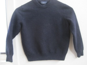 So classic- so useful. The dependable black merino sweater at its felted best.