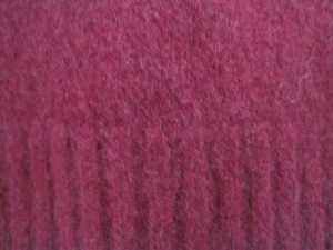 Here is the beautiful edge. This will make a great detail in one of my sweaters.