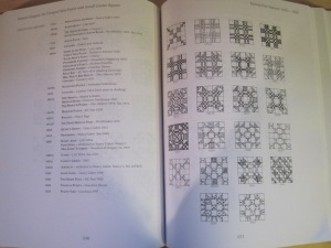 Here is the page that had the blocks that most resembled the block I wanted to use. I you have this book, and find a seven patch block, let me know.