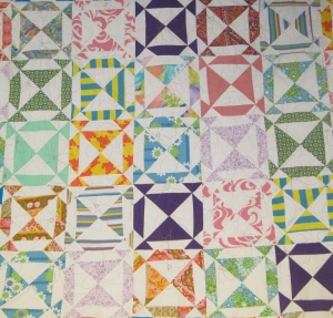 This mystery quilt is my first quilt top from my first quilt class. I was hooked!