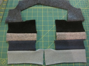 Here is what they look like before I cut them into the pattern pieces.
