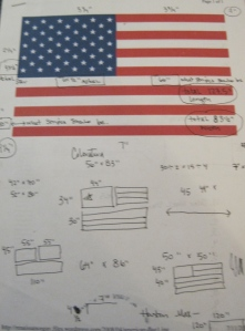 Here I am trying to figure out  to make my flag the same proportions as the real flag.
