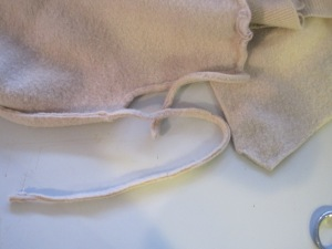 As I remove the seams they look like this.