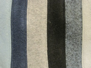 Here is a close-up of some of the top stitching for the Queen of the North dress.