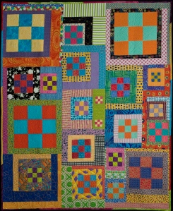 This is one of my first art quilts.LIbby Leiman--one of the godmothers of the art quilt world gave me my first blue ribbon for this quilt many years ago.