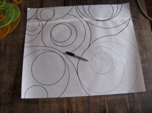 Darkening the Design Lines with a Sharpie