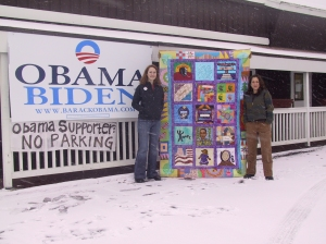 Here we are outside the Obama Anchorage Headquarters.