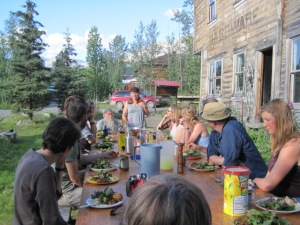 On the first evening, we gather for an amazing outdoor diner and introductions.