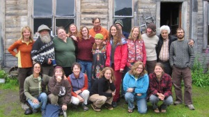 Class photo taken on the final morning of Cross Pollinations.