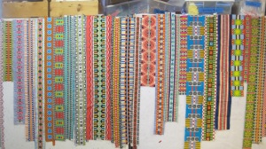 Here is a bunch of frames. Can you find any of them in the finished quilt?