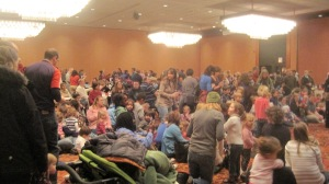 Hundreds of kids and their parents turned out for thread's 25th birthday party.