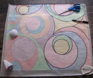 Creating the tissue paper map for Albert Hofmann's Obit