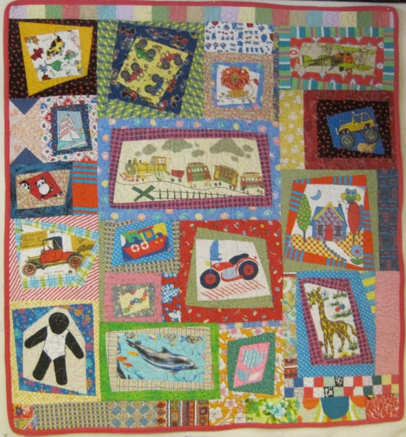 This is one of the first quilts I ever completed. I see now that my use of color and print has dramatically improved!