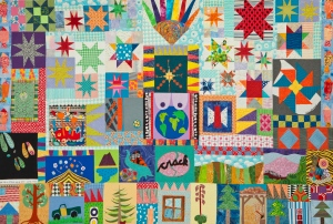This is one of my all time favorite quilts as it is tells the story of that week. Which was such an amazing time with wonderful group of artists and writers.