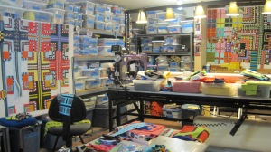 Here is a large view of the studio at that time. There is some serious chaos going on.
