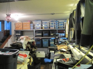 This what the place looked like when I began to sort and cleaning.