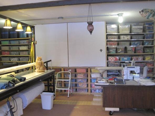 New back wall of studio