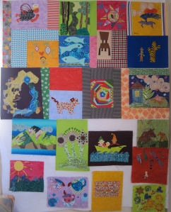 Here is another community quilt I am working on. I didn't not make any real progress on the quilt, but I did find out who made one of the blocks that was not signed which is a very good thing.