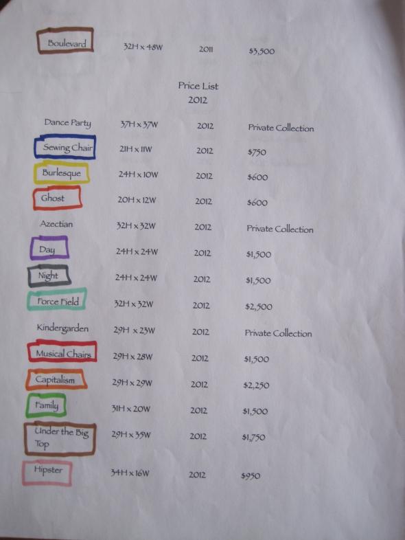 Quilt Show List 2012