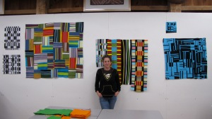 Me and the work I completed after three weeks  of study with Nancy Crow in the fall of 2009.