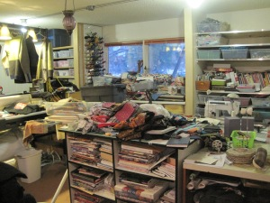 Now that I have my new space, I can't imagine that I ever created in such a messy environment!