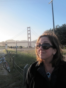 Me, some bicycles,and the Golden Gate Bridge.