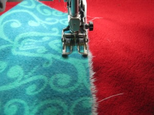 You seam should be generous, you will be trimming it later.