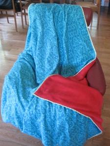 Maria Shell Fleece Flannel Blanket