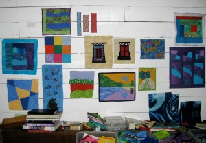 Here are some of the little sketches the students did before they began their larger pieces.