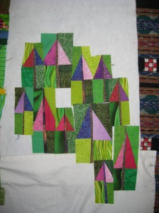 Lyn's amazing fireweed quilt.