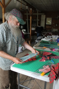 Mark is on to his next project--taking his plaid shirts from the last thirty years and making them into a quilt masterpiece. You will have to wait until the next post to see this amazing creation.