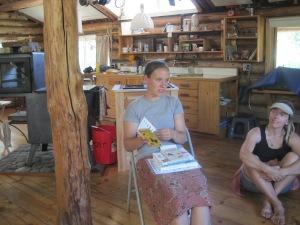 Kristin sharing field journals.