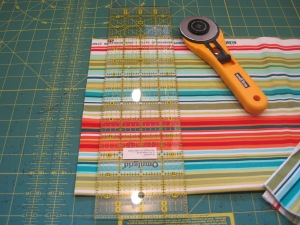 "Cut Fibric 5"" Wide by Length of Quilt"