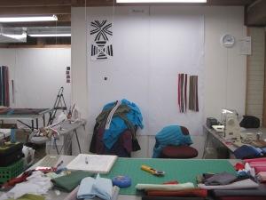 Maria Shell's Design Wall at Three O'Clock
