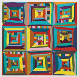 Lines + Triangles = Squares by Maria Shell