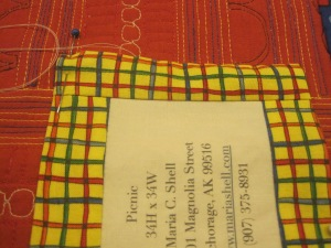 Maria Shell Quilt Label