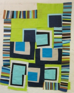 Unfinished Blue Quilt by Maria Shell
