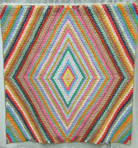 Hexagon Diamonds Unknown Maker Polyester c. 1970