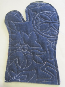 Artful Oven Mitts by Maria Shell