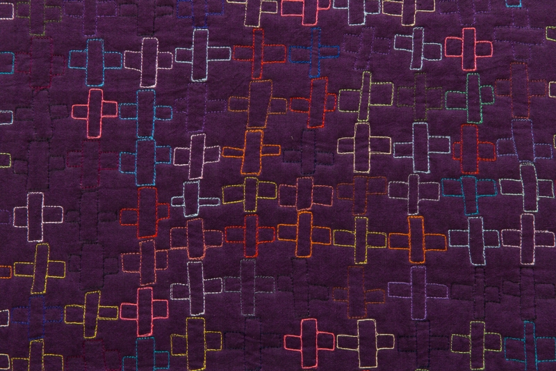 Maria Shell Quilt National To Agnes Martin, with Color