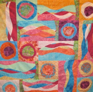 Maria Shell's Circle and Curves Sampler Class student work