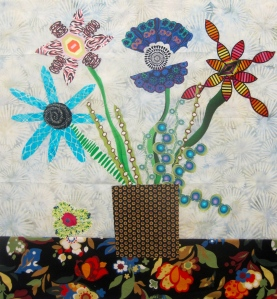 Student Work from Modern Broderie Perse Workshop by Maria Shell