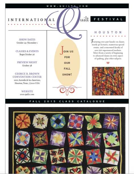 Teaching Schedule for the International Quilt Festival Houston ... : houston international quilt show 2015 - Adamdwight.com