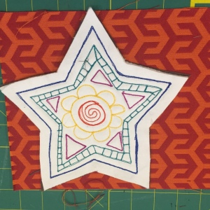 As you can see in the photo, my seam allowance is a bit scant on one point of the star. That is OKAY.