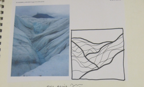 Root Glacier Drawing